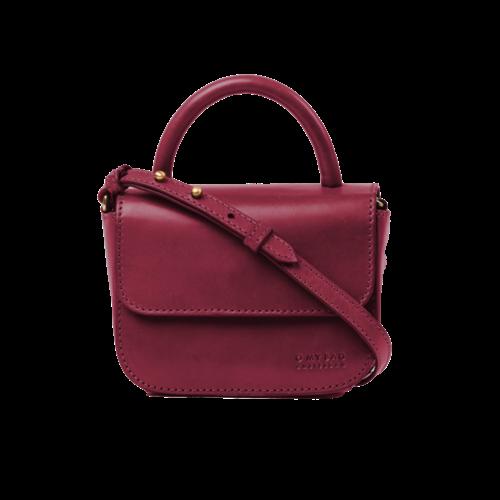 O My Bag Nano handtas ruby classic leder
