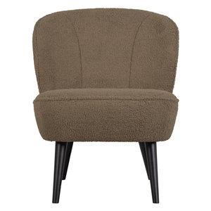 WOOOD Sara fauteuil teddy clay