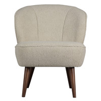 Sara fauteuil teddy off white