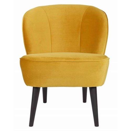 WOOOD Sara fauteuil fluweel Oker