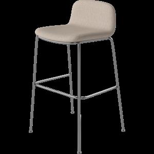 Bolia Palm counterstoel gestoffeerd chrome onderstel ZH 65