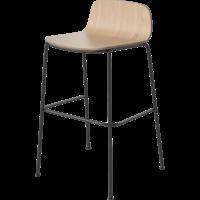 Palm counter stoel fineer zwart onderstel ZH 65