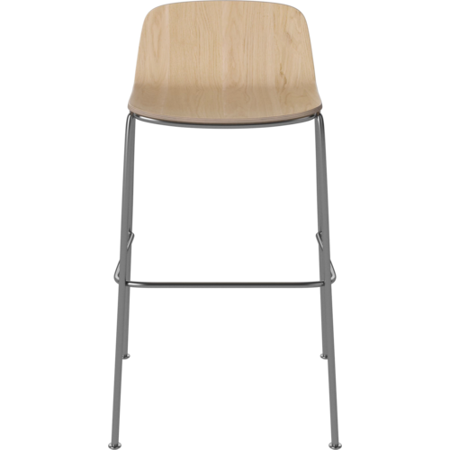 Bolia Palm counterstoel fineer chroom onderstel ZH 65