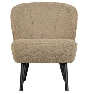 WOOOD Sara fauteuil teddy sand