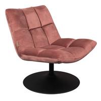 Bar fluweel lounge stoel oudroze