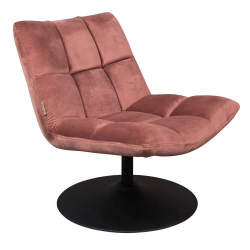 Dutchbone Bar fluweel lounge stoel oudroze