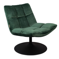 Bar fluweel lounge stoel groen