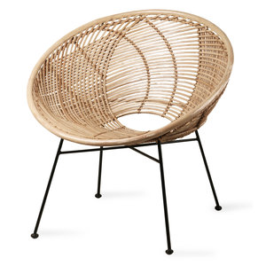HK Living Rotan lounge stoel naturel