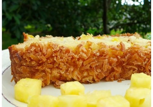 Roggebrood met ananas en kokos