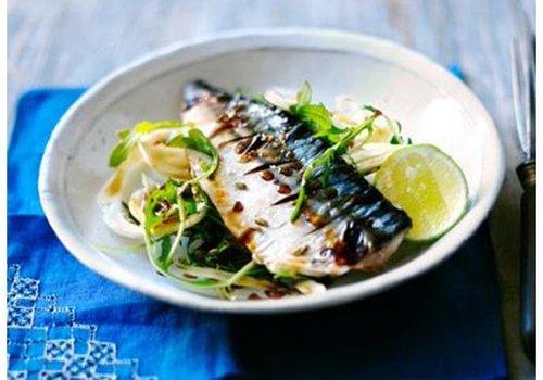 Roasted mackerel fillets