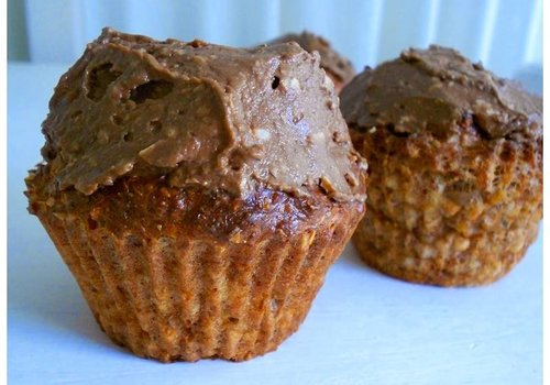Muffins met notellatopping a la Rilana