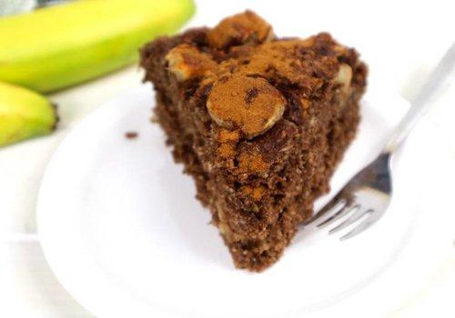 Kokos banaan chocolade taartje