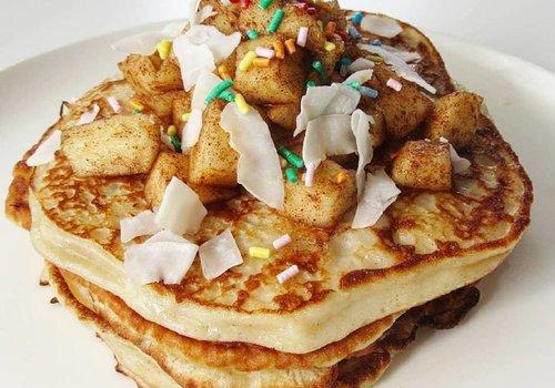 Appel Kaneel Kwark Pancakes