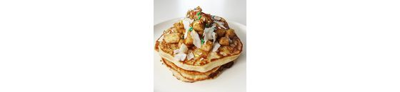 Apple Cinnamon Curd Pancakes from breakfast with Chantal