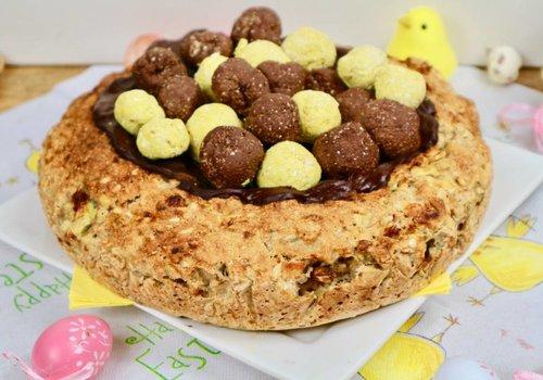 Vegan Paas vogelnest taart