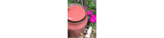 Rhubarb-strawberry smoothie