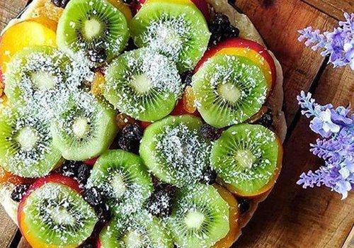 Fruit rice flan
