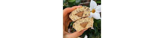 Choc chip peanut butter muffins