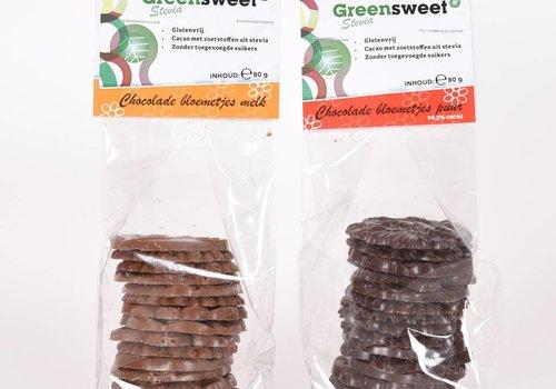 Greensweet Chocolate Flowers