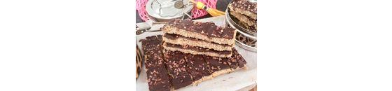 Amandel-kokosrepen met pure chocolade