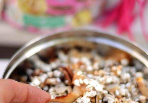 Gepofte boekweit met kokos flakes en pecan noten