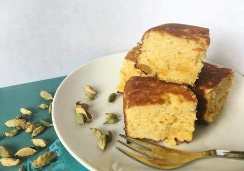 Abrikozen kokos kardemom cake