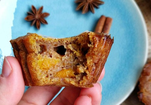 Pumpkin muffins with pumpkin spice