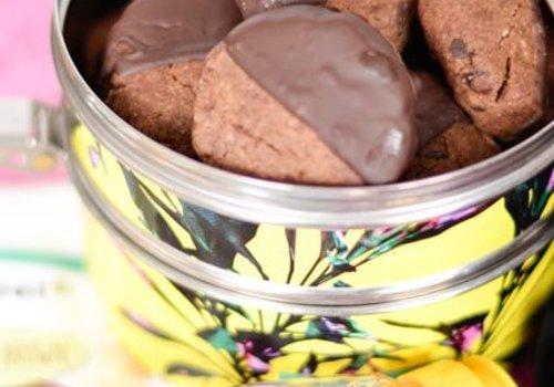 Chocolate speculoos cookies