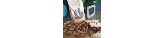 Soft Protein strips with cocoa nibs