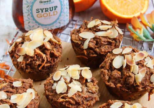 Wortel sinaasappel muffins