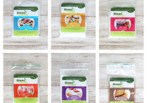 Sample set Greensweet-stevia 6 stuks