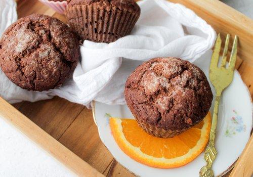Sinaasappel chocolade muffins