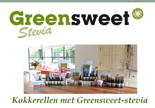 1e digitale receptenboek  van Greensweet