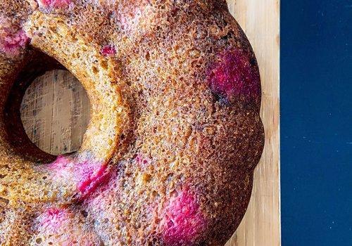 Frambozen tulband cake