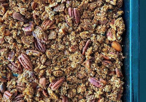 Granola met pecannoten en amandel