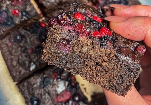 Black forrest protein cakes