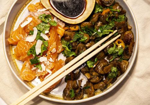 Sweet soy sauce mushrooms