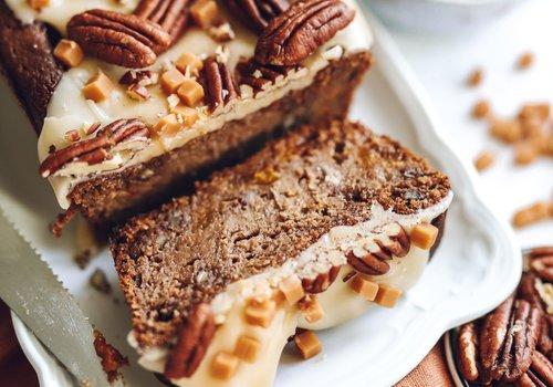 Pecannoten caramel cake