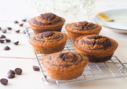 Bananen choco muffins