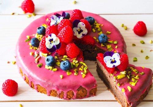 Pink cake icing