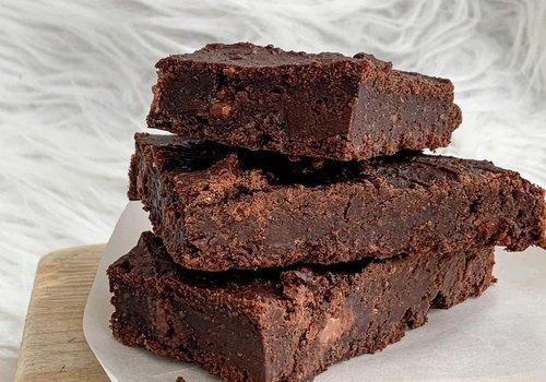 Black bean fudgy brownies