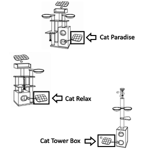 RHRQuality Kissen - Kratztonne 55x45 Paradise/Tower Box/Cat Relax Light Grey