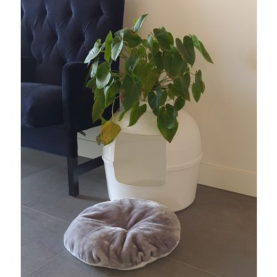 RHRQuality Ersatzkissen Light Grey - Kattentoilette Flower