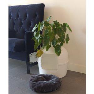 RHRQuality Ersatzkissen Dark Grey - Katzentoilette Flower