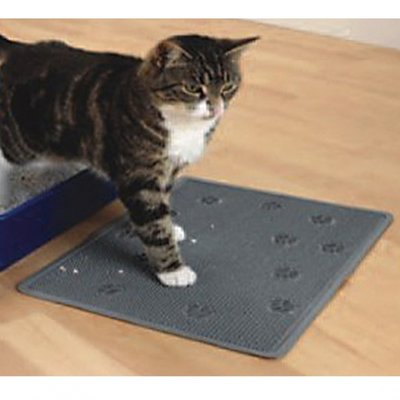 EBI Matte für Katzentoilette - Grau