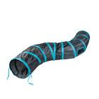 DUVO + Spieltunnel Katze - Blau/Schwarz 122x25cm