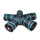 DUVO + Spieltunnel Katze - Blau/Schwarz 100x25cm