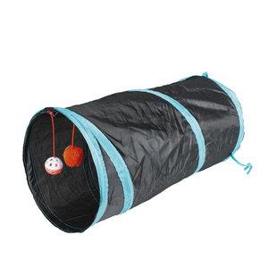 DUVO + Spieltunnel Katze - Blau/Schwarz 50x25cm