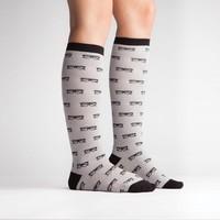 Grey Glasses Socks