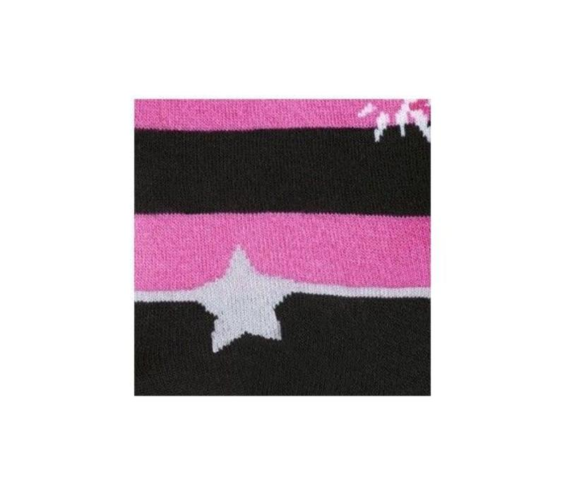 Pink & Black Stripes Socks